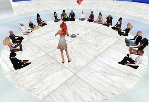 aula circolare in Second life