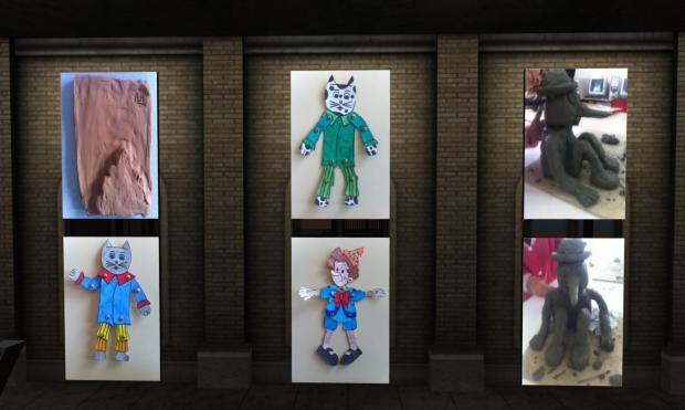 Altri personaggi di cartone e creta