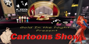 Cartoon Show gold in the night